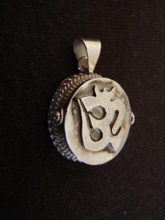 Silver buddhist om oval locket pendant silver jewellery sales silver buddhist om oval locket pendant aloadofball Images