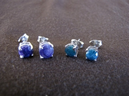 0feed5abe Silver Sapphire or Emerald Stud Earrings - Silver Jewellery Sales