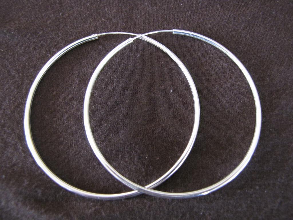 502a841b538dc Silver 2mm by 70mm Hoop Earrings