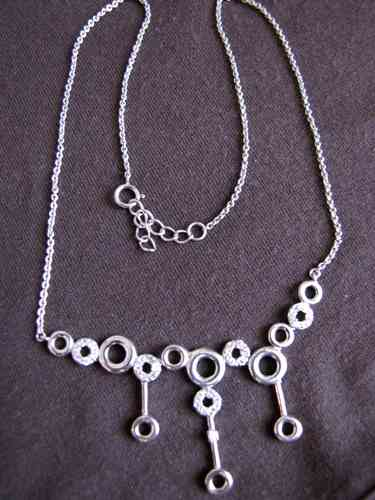 Silver and Cubic Zirconia Necklace