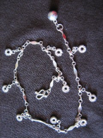 Silver Circle and Bell Ankle Chain