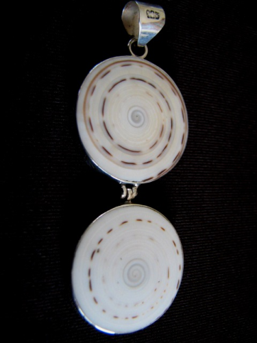 Silver 'Sand Dollar' Shell Pendant