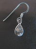 Silver Cubic Zirconia Teardrop Earrings