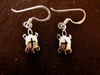 Silver Turtle/Tortoise Earrings