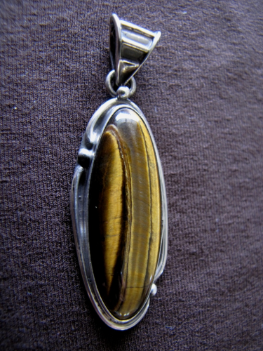 Silver Tiger's Eye Pendant
