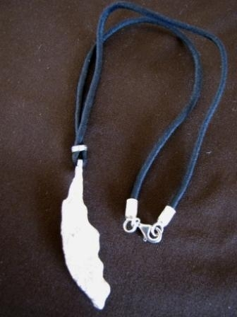 Silver Driftwood Design Necklace