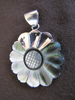 Silver Mother of Pearl Flower Pendant