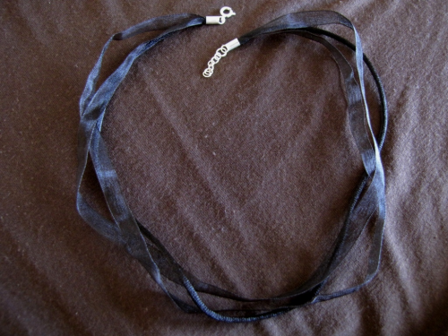 Black Ribbon and Silky Cord Choker