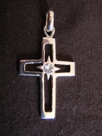 Silver Cut-Out Cross Pendant
