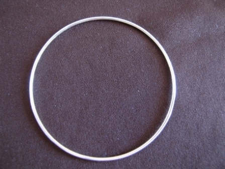 Thin Silver Silp On Bangle
