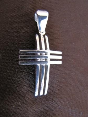 Polished Silver Cross Pendant