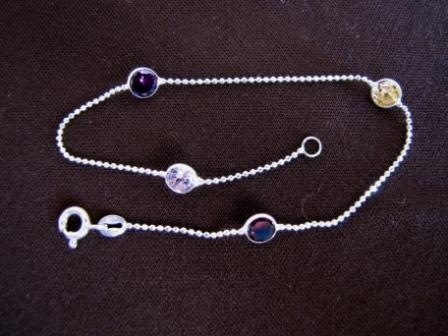 Silver Coloured Cubic Zirconia Bracelet