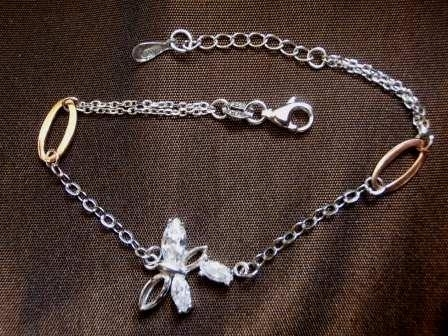 Silver & Rose Gold Butterfly Bracelet