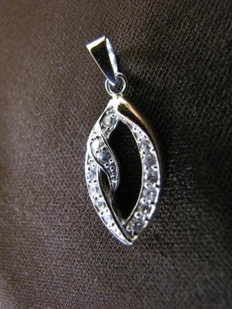 Silver and Gold Ellipse Pendant