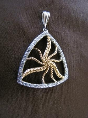 Silver and Gold Starfish Pendant