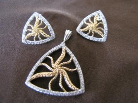 Silver and Gold Plated Starfish Earrings