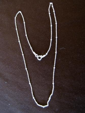 Silver Fine Trace Link and Balls Chain