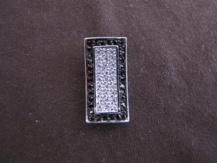 Rectangle Silver Cubic Zirconia Pendant