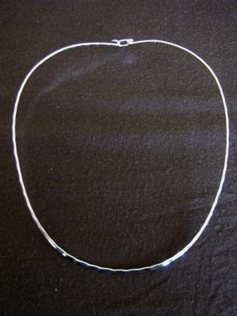 Hammered Silver 2mm Torque Necklace
