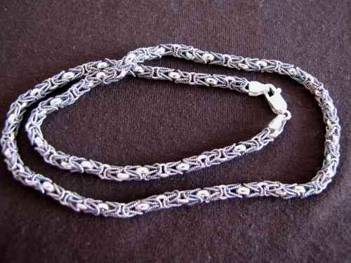 Silver Byzantium Chain Necklace
