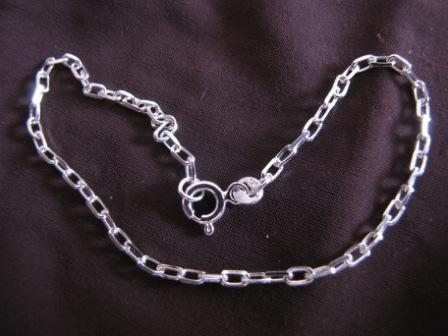 Silver Filed Trace Chain Bracelet