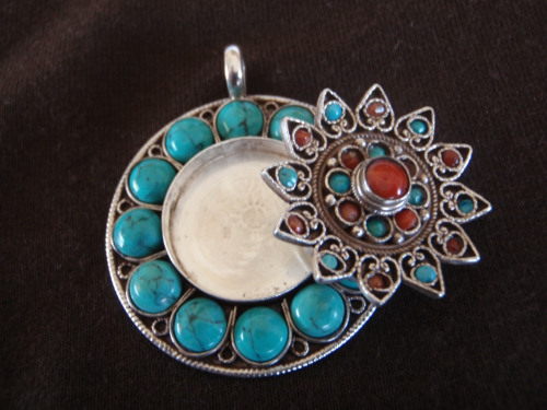 Silver Turquoise Secret Locket Pendant