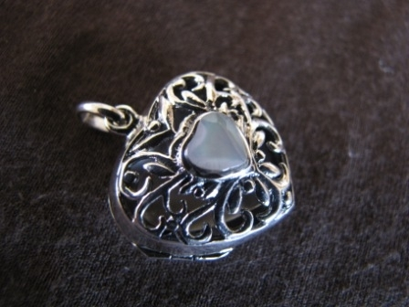 Silver Heart Locket Pendant