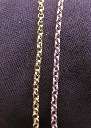 Silver Gold Plated Belcher Chain