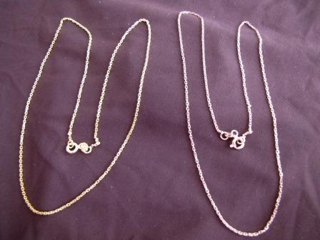 Silver Gold Plated Trace Chain