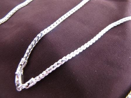 Polished Silver Foxtail Chain