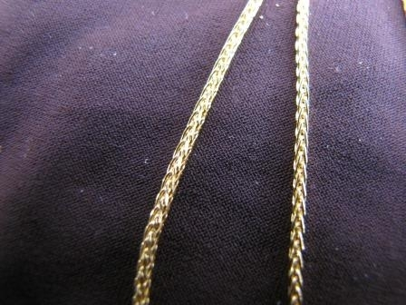 Silver Gold Plated Braided Chain