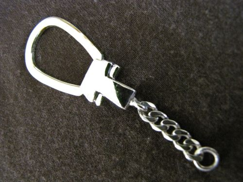 Silver Key Ring Chain