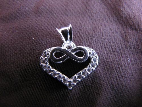Silver Heart and Infinity Pendant