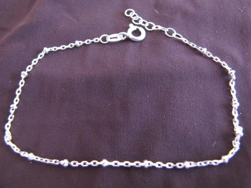 Silver Trace Chain and Balls Bracelet