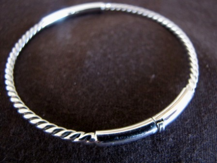 Silver Twisted Opening Bangle