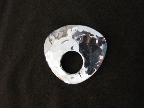 Silver Hammered Pendant