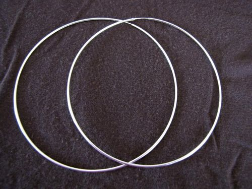 Silver Large 80mm Diameter Hoop Earrings