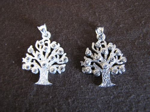Textured Silver Tree of Life Pendant