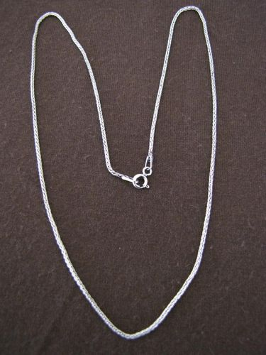 Oxidised Silver Foxtail Chain