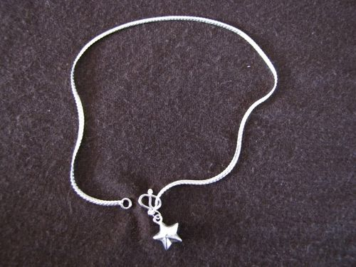 Silver Star Ankle Chaiin