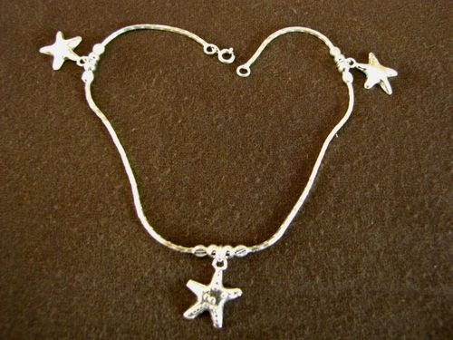 Silver Starfish Ankle Chain