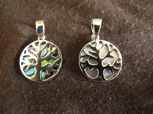 Small Round Silver Tree of Life Pendant