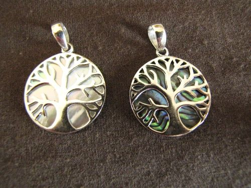 Silver Round Tree of Life Pendant