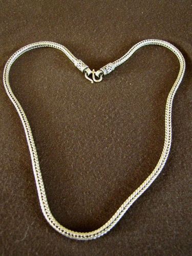 Heavy Silver Foxtail Chain