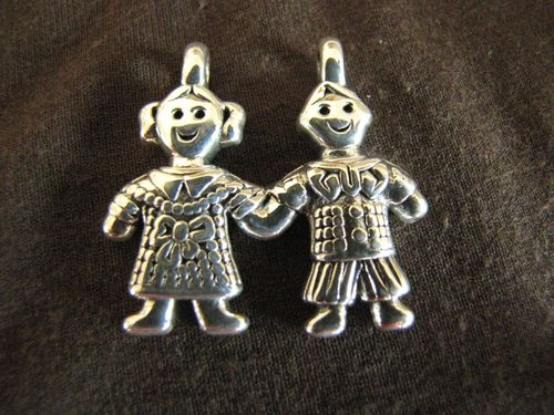 Silver Boy and Girl Pendant