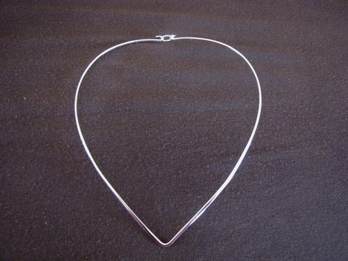 Silver 2mm Fastening Torque Necklace