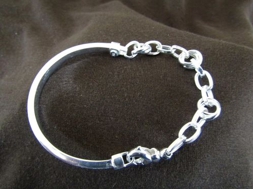 Silver Bangle and Links Bracelet