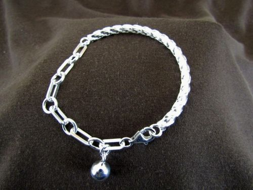 Silver Twist Bangle and Links Bracelet