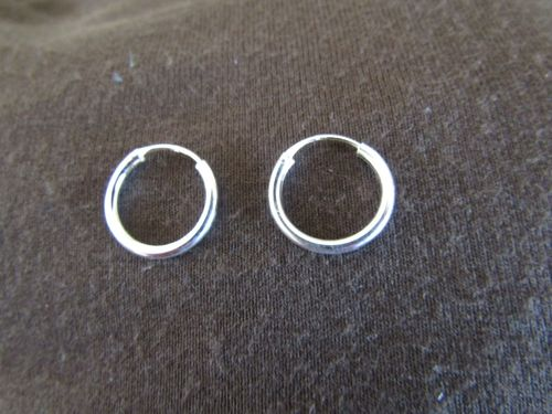 Silver 2mm 10mm Diameter Hoop Earrings