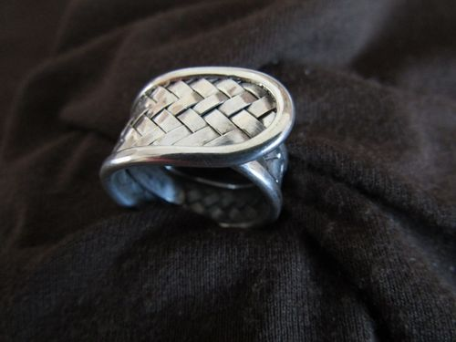 Silver Wrap Around Woven Ring